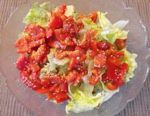 Salat mit Hanfsamen